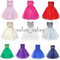 Kinder Prinzessin Kleid Mädchen Party Hochzeit Abendkleider Festkleid Ballkleid