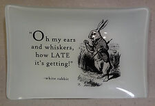 Large Alice In Wonderland White Rabbit Catchall Tray Red Envelope New