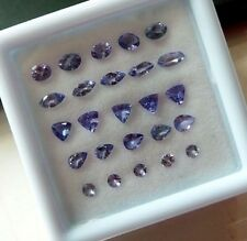 3 Cts+/25 Pcs Natural Tanzanite Wholesale Lot Top Quality Mix Faceted Gemstone