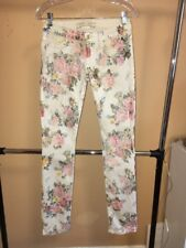 NEW Authentic Robin's Jean Straight Leg Floral Cute Women Pants Size 27