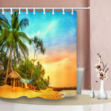 """71""""Polyester fabric Waterproof Bathroom Shower Curtain Beach Scenery By The Sea"""