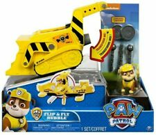 New Paw Patrol Flip & Fly Transforming Vehicle with Launchers - Rubble 6B