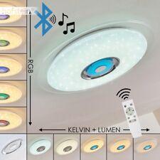 LED Decken Leuchte Lampe Bluetooth Lautsprecher Farbwechsler Wohn Schlaf Zimmer