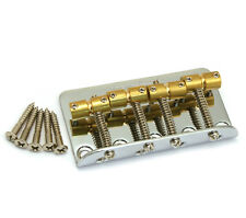 Wilkinson Chrome w/Brass Saddle Bass Bridge for Fender P/Jazz Bass® WBBCCR