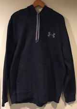 Under Armour Dark Blue Loose/Heavy Hoodie Pullover Hand Pouch Sz X-Large