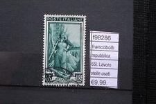FRANCOBOLLI REPUBBLICA 65 L LAVORO STELLE USATI USED (F98286)