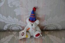 Boyds Bears Mini Happy Birthday Bear - jointed beige bear - #567109 - New!
