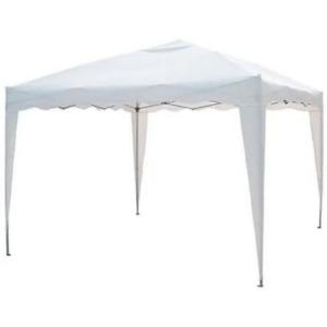 Sumter Pavillon mt 2x3 aus Stahl und faltbarem weißem Polyethylen für den Garten