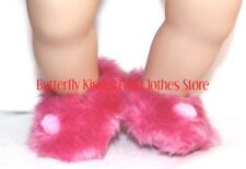 Hot Pink Bedroom Slippers 15 in Bitty Baby Doll Clothes Fits American Girl