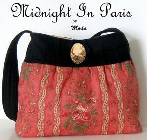MIDNIGHT IN  PARIS Purse Bag Kit - Moda Fabric 3 Sisters
