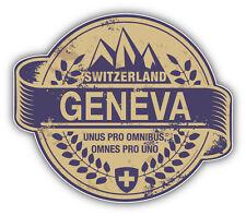 """Geneva City Switzerland Grunge Travel Stamp Car Bumper Sticker Decal 5"""" x 4"""""""