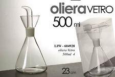 BOTTIGLIETTA OLIERA BIANCA IN VETRO 500 ML 23 CM LIW - 604928
