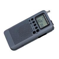 AM FM Stereo Radio Portable Mini Digital Tuning USB FM Radio MP3 Player Gray
