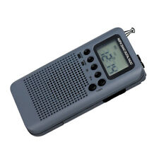 AM FM Stereo Radio Portable Mini Digital Tuning USB FM Radio MP3 Player Gray