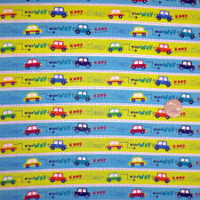 This way keep clear blue green 100% cotton fabric by the yard