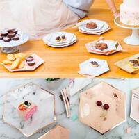 8Pcs Disposable Party Paper Plates Wedding Decoration Tableware Dinnerware