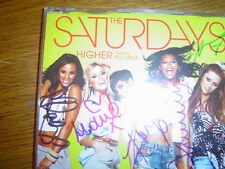 the saturdays ft flo rida - higher - limited edition signed uk cd single