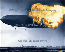Photo Hindenburg Rare Color Early Stages Of Catastrophe, Lakehurst, 1937