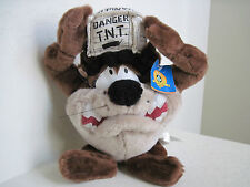 "Looney Tunes TAZ DANGER T.N.T 14"" Plush Stuffed Animal"