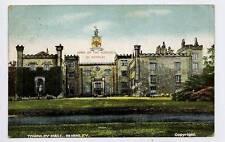 (w15j35-357) Towneley Hall, Burnley 1907 Used VG, No Stamp
