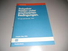 """VAG Volkswagen Audi PKW Fahrzeuge """"Reisen unter erschwerten Bedingungen"""", 1985"""