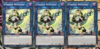 3x Cyberse-Wicckind SAST-DE044 COMMON DEUTSCH 1.AUFLAGE PLAYSET Yu-Gi-Oh