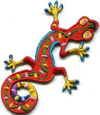 Lizard gekko salamander retro hippie boho 70s applique iron-on patch S-1241