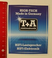 Aufkleber/Sticker: T+A elektroakustik HiFi-Lautsprecher Elektronik (05041732)