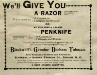 1896 Blackwells Genuine Durham Tobacco North Carolina Vintage Print Ad