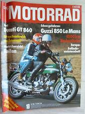 Rarität Zeitschrift Motorrad, Nr. 7, 07.1989, Ducati Gt 860, Guzzi 850 Le Mans