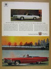1967 Cadillac Fleetwood Eldorado & red DeVille Convertible photo vintage Ad