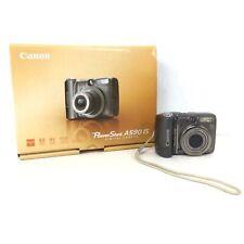 Canon PowerShot A590IS 8MP Digital Camera Grey Silver #323