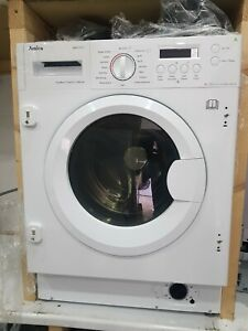 New Unboxed Amica AWDT814S 8kg 1400 spin integrated washer dryer