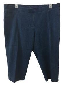 "Cathy Daniels capri jeans size XL stretch denim blue 20"" inseam pull on"