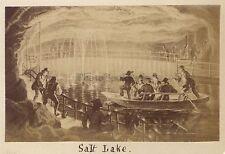 Berchtesgaden Lac salé d'après peinture Vintage albumine Petit format 5,7x9cm