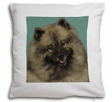 More details for keeshond dog soft velvet feel cushion cover with inner pillow, ad-kee1-cpw