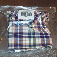 """Longaberger Woven Traditions Plaid MEASURING Basket Liner 13"""" inch ~ Brand New!"""