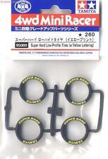 TAMIYA 95080 Super Hard Profile Tire - Black w/Yellow Letters