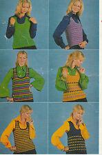 "vintage Emu 3049 photo copy  crochet Pattern ladies tank top 28""-36"" D.K."