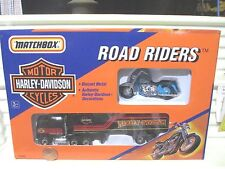 Matchbox 1992 76420 Harley Davidson Truck with Blue Motorcycle Mint In C9 Box