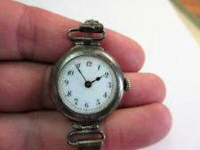 Antique Silver Cased WW1 PERIOD TRENCH STYLE WATCH c1912 with Silver strap!