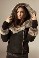 All Saints SheepskinJacket Coat PeltBrown Taupe Fur UK 8 (new £799) REDUCED