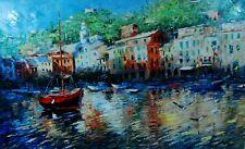 Portofino Marina by Elena Bond (Fine Art on Canvas Painting)