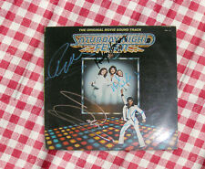 Bee Gees signed soundtrack LP / SATURDAY NIGHT FEVER / 3 musicians / Travolta
