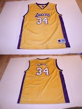 Youth Los Angeles Lakers Shaquille Shaq O'Neal XL (18/20) Vintage Jersey (Yellow