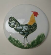 Chicken Decor Ceramic Stove Burner Cover, Or Wall-Hanging