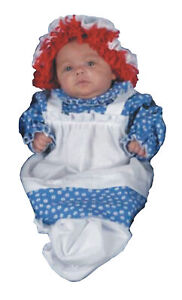 INFANT RAGGEDY ANN DOLL COSTUME BUNTING DRESS 0-9 MOS 12118 NEW