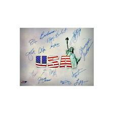 Olympic Winners signed 16x20 Photo 15 sigs - Mark Spitz, Janet Evans-Beckett LOA
