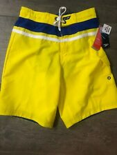 SPEEDO-Boy's Swim Trunks/Shorts Yellow / Blue  Size L Large Retail: $34