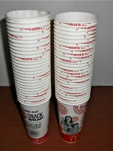LOT 55 MCDONALDS CUPS 2006 DISCONTINUED SNACK WRAP ADVERTISING NEW 16OZ?